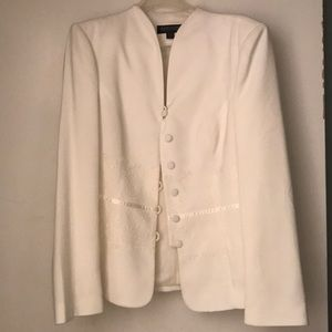 Brand new white skirt suit .... formal with lace